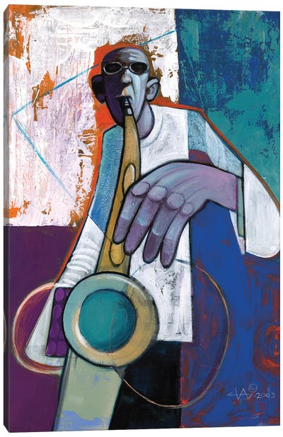 Sax Canvas Art Print