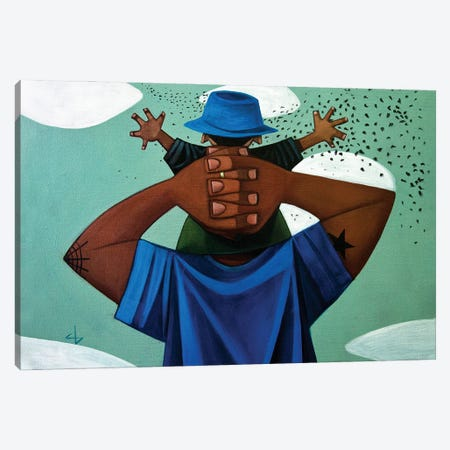 Enjoyin' Life's Magic Canvas Print #BYC3} by Cbabi Bayoc Canvas Artwork
