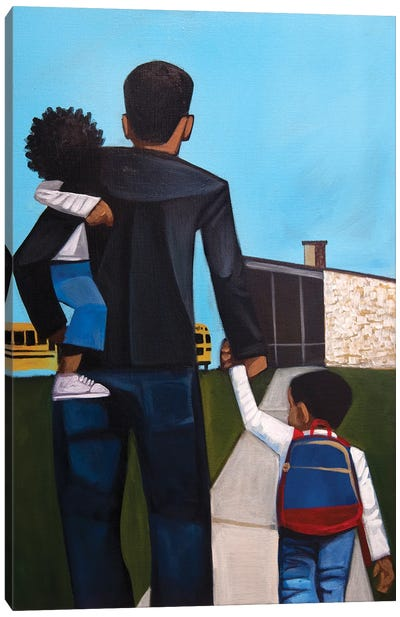 First Day Of School Canvas Art Print