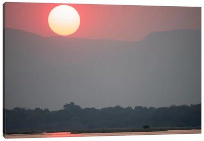 Magnificent Sunset, Zambezi River Canvas Art Print