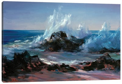 Wave Crashing Canvas Art Print