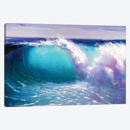 Blue Wave Canvas Print #BZH13} by Bozhena Fuchs Art Print