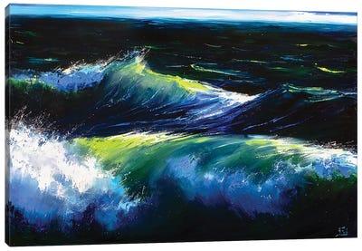 Green Ocean Canvas Art Print