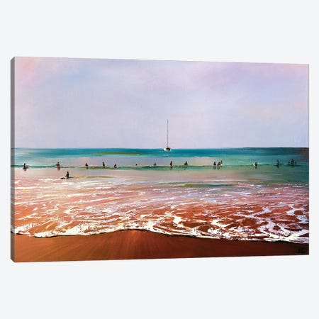 In Waiting For The Wave Canvas Print #BZH15} by Bozhena Fuchs Canvas Wall Art