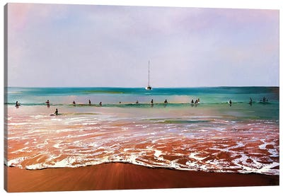 In Waiting For The Wave Canvas Art Print