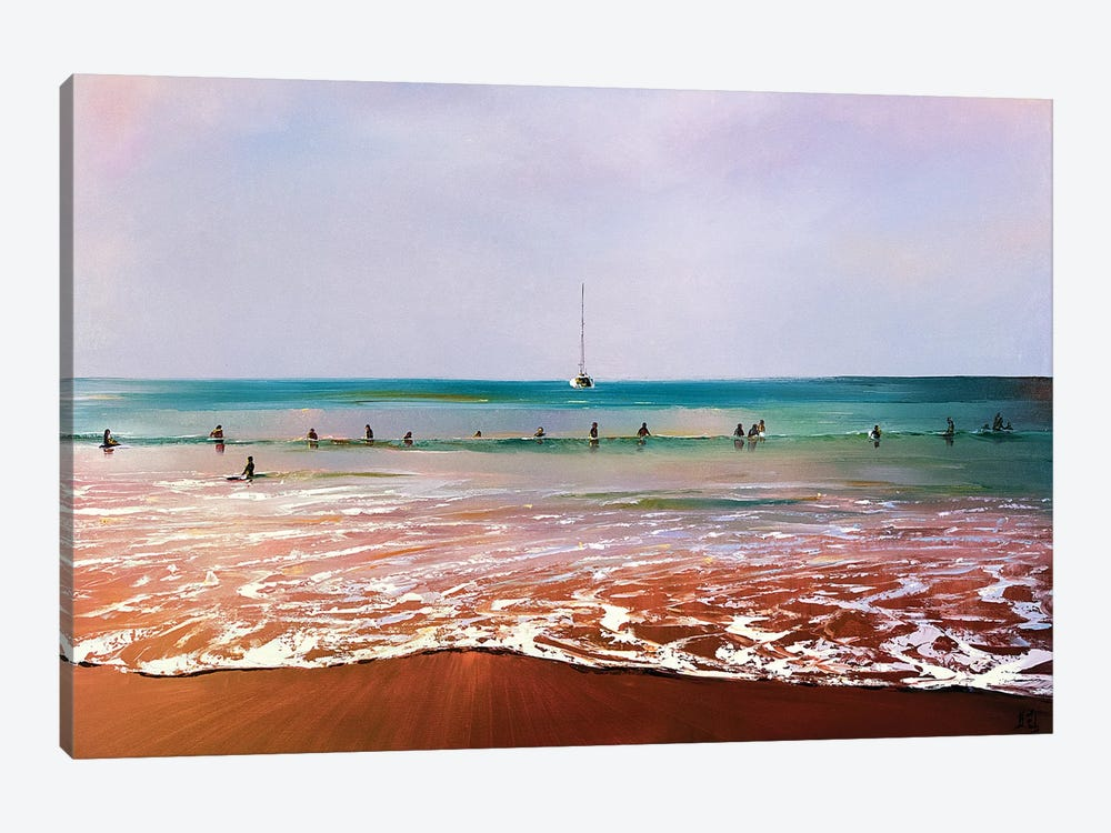 In Waiting For The Wave by Bozhena Fuchs 1-piece Canvas Artwork