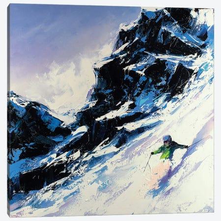 Fast Skier Canvas Print #BZH19} by Bozhena Fuchs Art Print