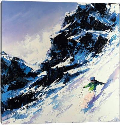 Fast Skier Canvas Art Print