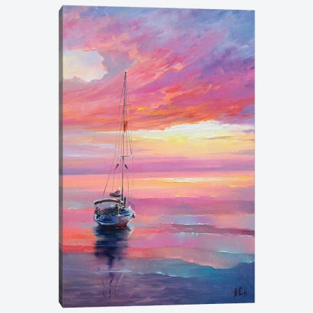 Colorful Seascape Canvas Print #BZH1} by Bozhena Fuchs Canvas Art