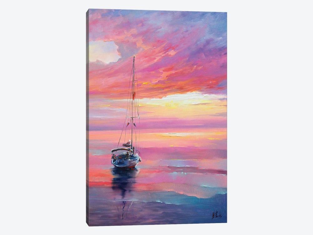 Colorful Seascape by Bozhena Fuchs 1-piece Canvas Art Print