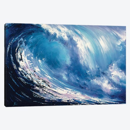 Wave Canvas Print #BZH21} by Bozhena Fuchs Canvas Wall Art