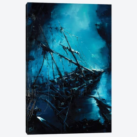 The Shipwreck Canvas Print #BZH22} by Bozhena Fuchs Canvas Wall Art