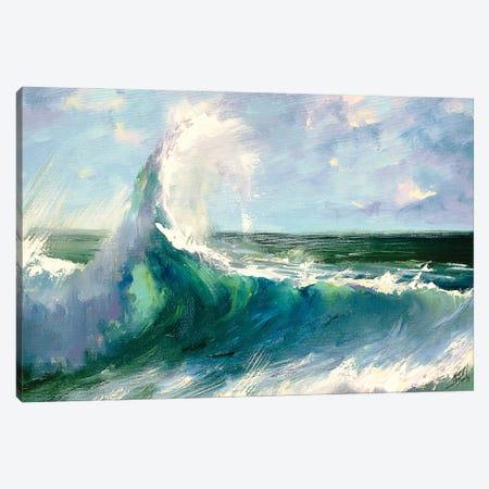 Crashing Wave Canvas Print #BZH23} by Bozhena Fuchs Canvas Art