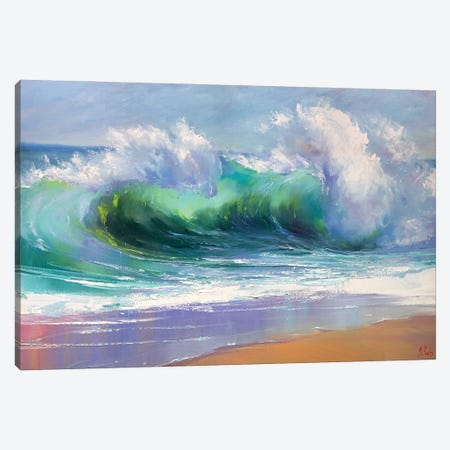 Morning Wave Canvas Print #BZH2} by Bozhena Fuchs Canvas Art