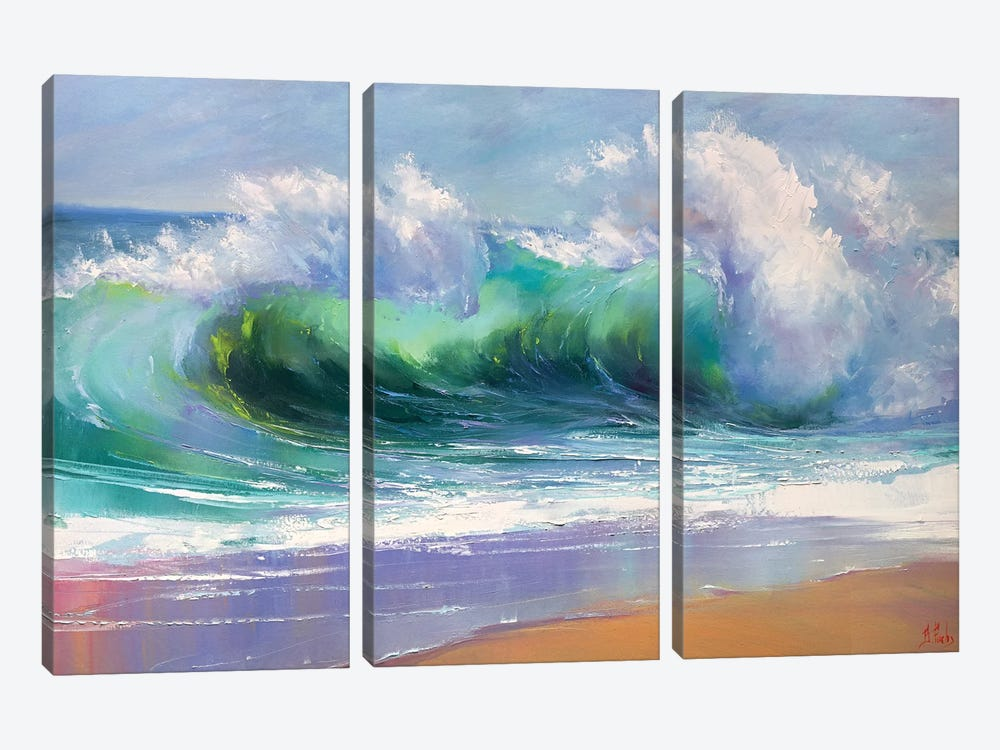 Morning Wave by Bozhena Fuchs 3-piece Canvas Art