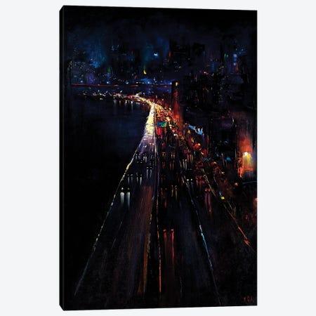 Manhattan Bridge Canvas Print #BZH31} by Bozhena Fuchs Art Print