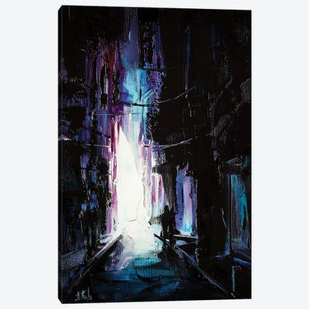 Stroll Through The City At Night Canvas Print #BZH32} by Bozhena Fuchs Canvas Print
