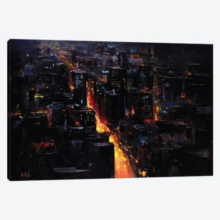 Nightscape Through The City Canvas Print #BZH33} by Bozhena Fuchs Canvas Print