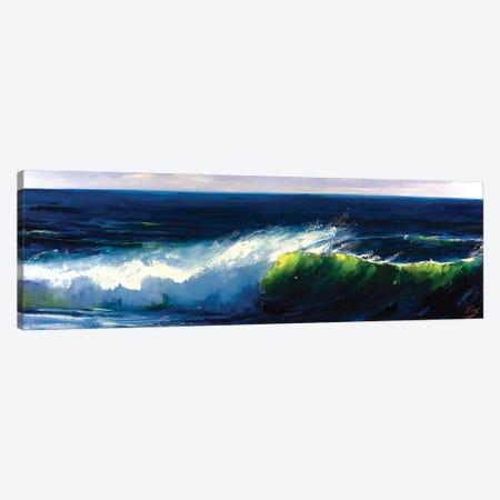 Green Wave Canvas Print #BZH38} by Bozhena Fuchs Canvas Print