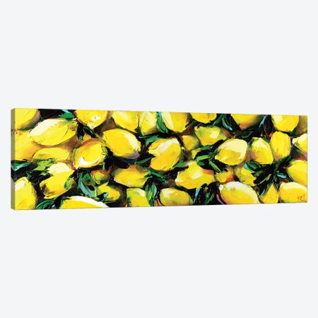 Lemon Painting Canvas Print #BZH39} by Bozhena Fuchs Canvas Art Print