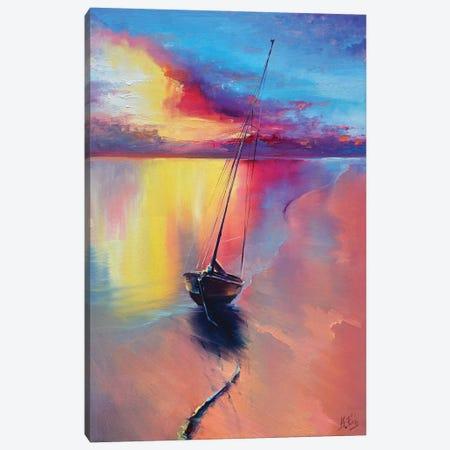 Sunset At The Sea Canvas Print #BZH3} by Bozhena Fuchs Canvas Art