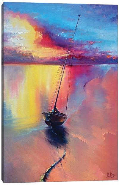 Sunset At The Sea Canvas Art Print