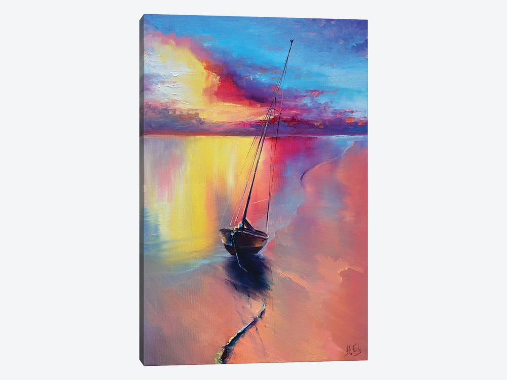 Sunset At The Sea by Bozhena Fuchs 1-piece Art Print