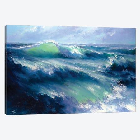 Morning Storm Canvas Print #BZH40} by Bozhena Fuchs Canvas Wall Art