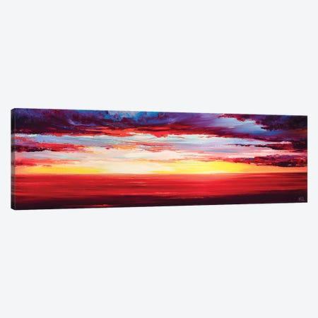 Red Sunset At The Sea Canvas Print #BZH41} by Bozhena Fuchs Canvas Art