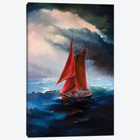 The Red Sails Canvas Print #BZH44} by Bozhena Fuchs Canvas Art Print
