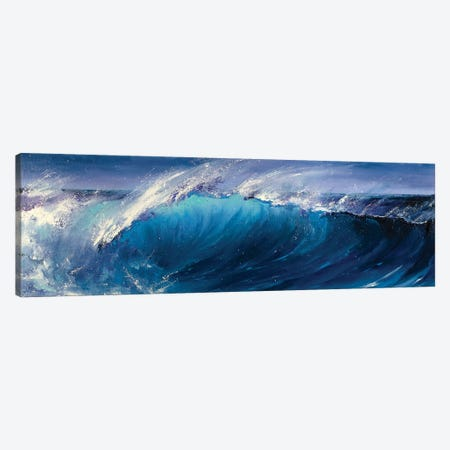 Night Wave Canvas Print #BZH46} by Bozhena Fuchs Art Print
