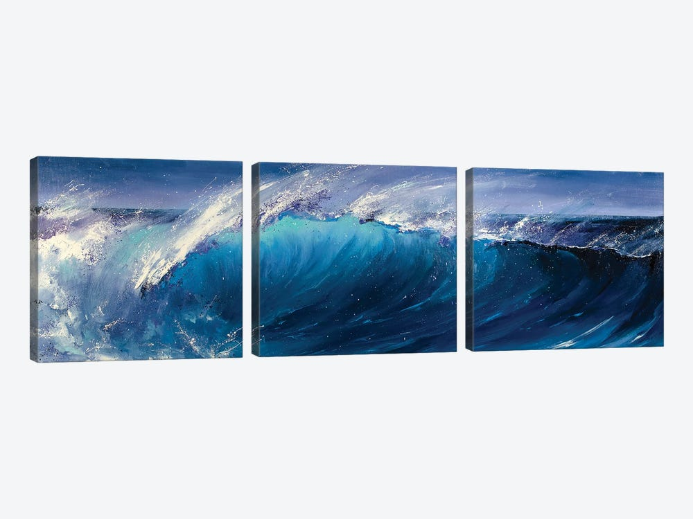 Night Wave by Bozhena Fuchs 3-piece Canvas Artwork