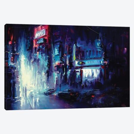Urban Night Life Canvas Print #BZH49} by Bozhena Fuchs Canvas Wall Art