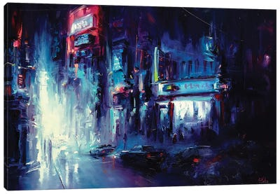 Urban Night Life Canvas Art Print