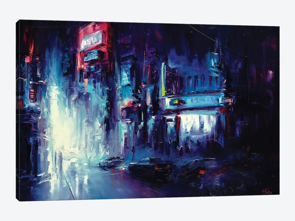 Urban Night Life by Bozhena Fuchs 1-piece Art Print