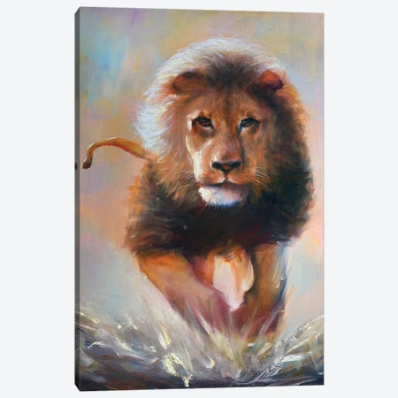 The Lion Canvas Print #BZH4} by Bozhena Fuchs Art Print