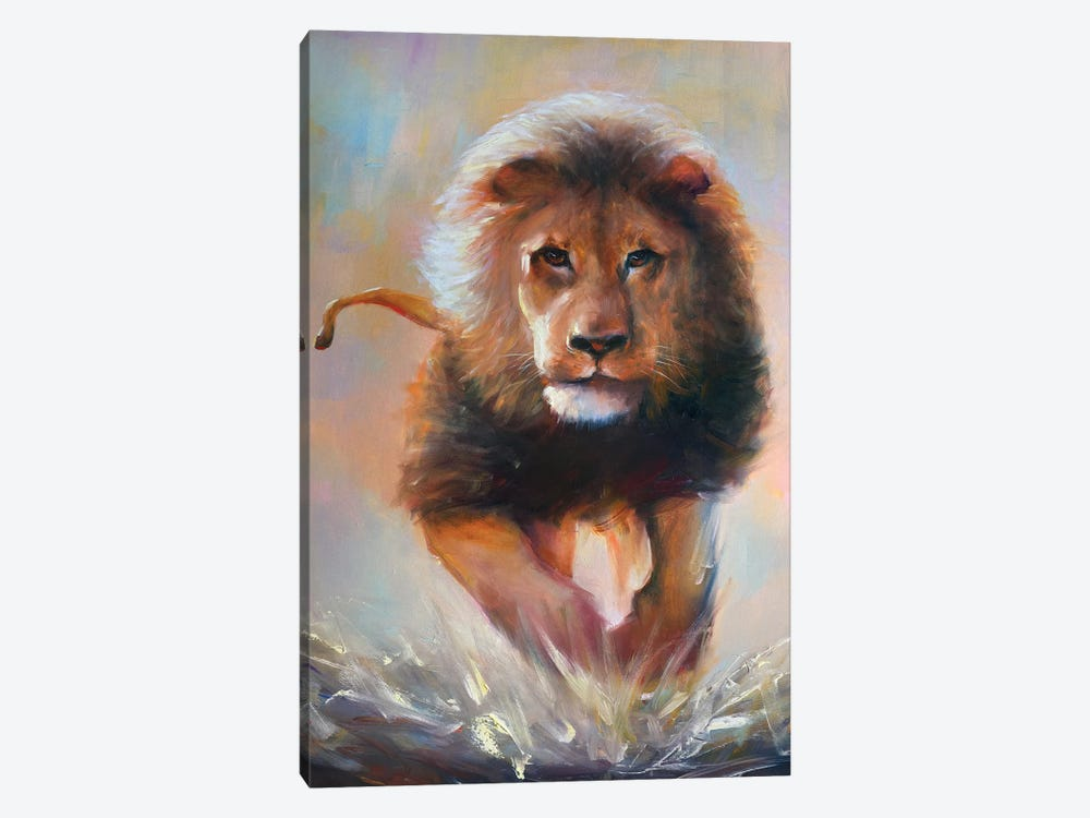 The Lion by Bozhena Fuchs 1-piece Canvas Art