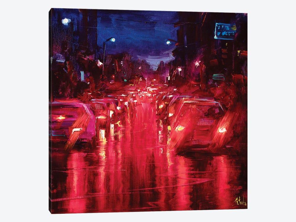 Red Lights by Bozhena Fuchs 1-piece Canvas Wall Art