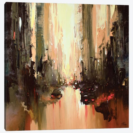 Cityscape Painting Canvas Print #BZH55} by Bozhena Fuchs Canvas Artwork