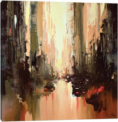 Cityscape Painting Canvas Art Print