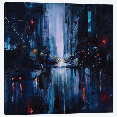 City Night Painting Canvas Print #BZH56} by Bozhena Fuchs Canvas Art