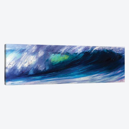 Wave Breaking On The Beach Canvas Print #BZH58} by Bozhena Fuchs Art Print