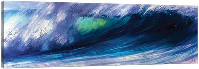Wave Breaking On The Beach Canvas Art Print