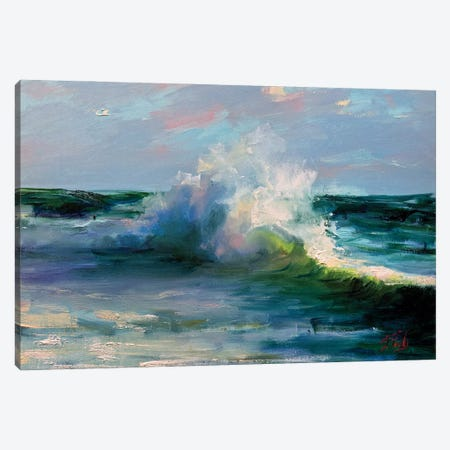 The Wave Canvas Print #BZH5} by Bozhena Fuchs Art Print