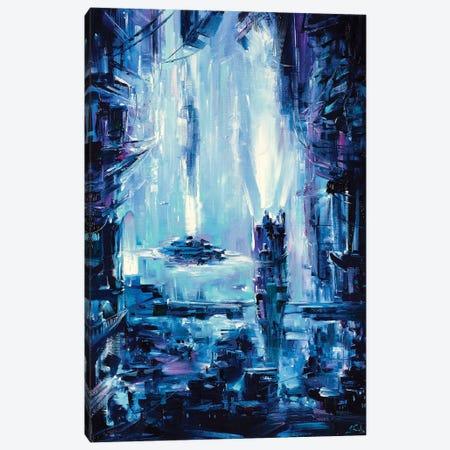 Neon City Canvas Print #BZH60} by Bozhena Fuchs Canvas Art