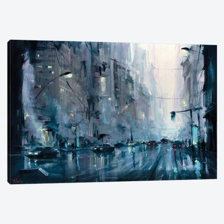 Urban City Morning Canvas Print #BZH61} by Bozhena Fuchs Canvas Art