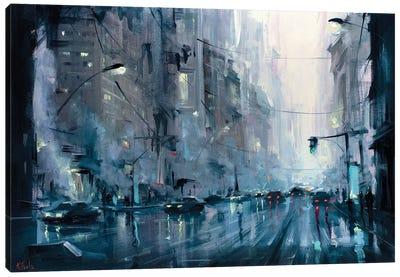 Urban City Morning Canvas Art Print