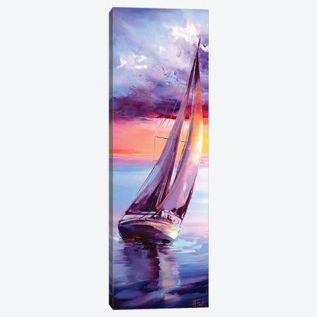 Sailing Painting Canvas Print #BZH67} by Bozhena Fuchs Art Print