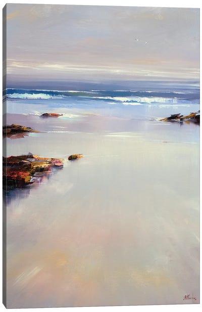 A Quiet Morning On The Beach Canvas Art Print