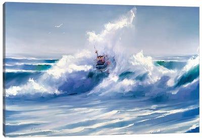 Through The Wave Canvas Art Print